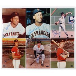 Lot of (6) Signed San Francisco Giants 8x10 Photos with Juan Marichal, Orlando Cepeda, Will Clark, D