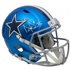 Dak Prescott Signed Dallas Cowboys Full-Size Blaze Speed Helmet (JSA COA  Prescott Hologram)