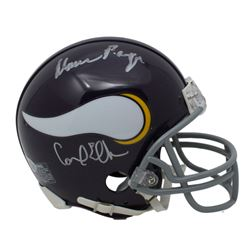 "Minnesota Vikings ""Purple People Eaters"" Throwback Mini Helmet Team-Signed by (4) with Carl Eller, A"