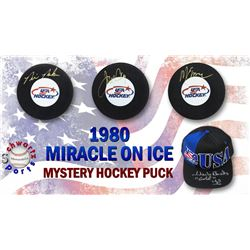 Sports 1980 USA Hockey Miracle on Ice Signed Hockey Puck Mystery Box – Series 1 (Limited to 80) -