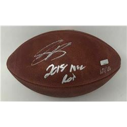 "Saquon Barkley Signed LE ""The Duke"" Official NFL Game Ball Inscribed ""2018 NFL ROY"" (Panini COA)"