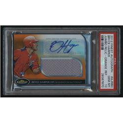 2012 Finest Rookie Jumbo Relic Autographs Orange Refractors #BH Bryce Harper #96/99 (PSA 10)