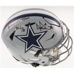 "Dak Prescott Signed Dallas Cowboys Full-Size Authentic On-Field SpeedFlex Helmet Inscribed "" R.O.Y."