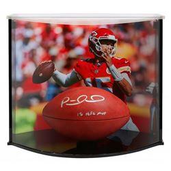 "Patrick Mahomes Signed ""The Duke"" Official NFL Game Ball Inscribed ""18 NFL MVP"" with Curve Display C"