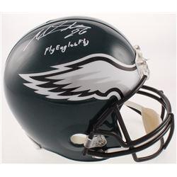 """Miles Sanders Signed Philadelphia Eagles Full-Size Helmet Inscribed """"Fly Eagles Fly"""" (Beckett COA)"""