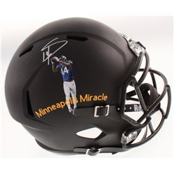 Stefon Diggs Signed Full-Size  Minneapolis Miracle  Matte Black Speed Helmet (TSE Hologram)