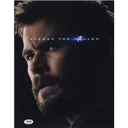 Chris Hemsworth Signed  Avengers: End Game  11x14 Photo (PSA COA)