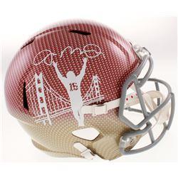 Joe Montana Signed San Francisco 49ers Full-Size Hydro-Dipped Speed Helmet (JSA COA)