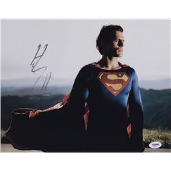 "Henry Cavill Signed ""Man of Steel"" 11x14 Photo (PSA COA)"