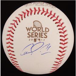 Carlos Correa Signed 2017 World Series Logo Baseball (JSA COA)