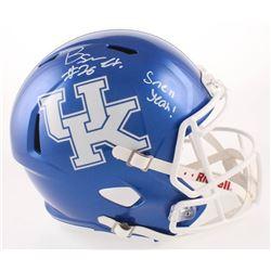 "Benny Snell Jr. Signed Kentucky Wildcats Full-Size Speed Helmet Inscribed ""Snell Yeah!"" (JSA COA)"