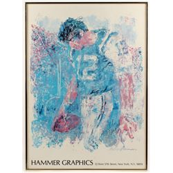 Joe Namath Signed New York Jets 24.25x33.25 Custom Framed Print Display (JSA ALOA)