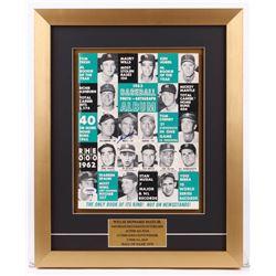 Willie Mays Signed 15x18.5 Custom Framed 1963 Magazine Display (PSA COA)