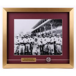 1908 Chicago Cubs 17x20 Custom Framed Team-Photo Display with Replica Ring
