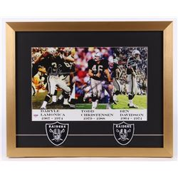 Daryle Lamonica, Todd Christensen  Ben Davidson Signed Oakland Raiders 17x21 Custom Framed Photo Dis