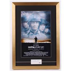 "Tom Hanks Signed ""Saving Private Ryan"" 17x24 Custom Framed Cut Display (PSA COA)"