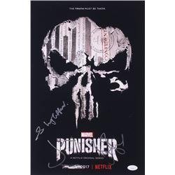 "Jon Bernthal, Ben Barnes  Steve Lightfoot Signed ""The Punisher"" 12x18 Photo (JSA COA)"
