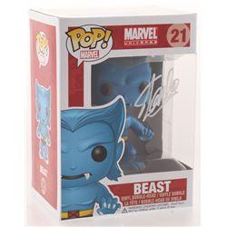 """Stan Lee Signed """"Marvel"""" Beast #21 Funko Pop! Vinyl Figure (Radtke COA  Lee Hologram)"""
