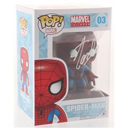 "Stan Lee Signed ""Marvel"" Spider-Man #03 Funko Pop! Vinyl Figure (Radtke COA  Lee Hologram)"