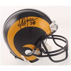Marshall Faulk Signed St. Louis Rams Throwback Mini Helmet (Beckett COA)