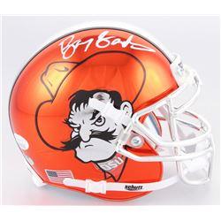 Barry Sanders Signed Oklahoma State Cowboys Chrome Mini-Helmet (JSA COA  Schwartz Hologram)