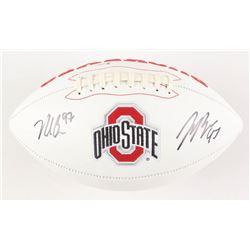 Joey Bosa  Nick Bosa Signed Ohio State Buckeyes Logo Football (Beckett COA)