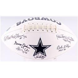 Dallas Cowboys Logo Football Signed by (6) Bob Lilly, Randy White, Ed Jones, Larry Cole, John Dutton
