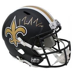 Michael Thomas Signed New Orleans Saints Full-Size Matte Black Speed Helmet (JSA COA)