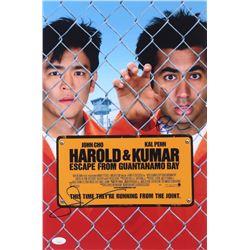 "John Cho  Kal Penn Signed ""Harold  Kumar Escape from Guantanamo Bay"" 12x18 Photo (JSA COA)"