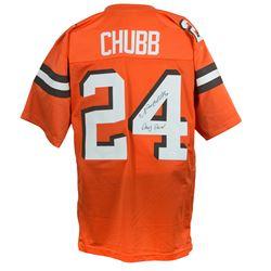 "Nick Chubb Signed Jersey Inscribed ""Dawg Pound"" (JSA COA)"
