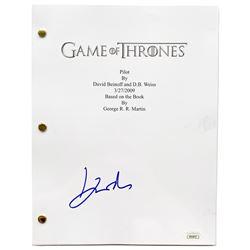 """John Bradley Signed """"Game of Thrones: PIlot"""" Episode Script (JSA COA)"""