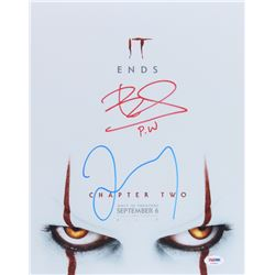 """James McAvoy  Bill Skarsgard Signed """"It: Chapter Two"""" 11x14 Photo Inscribed """"P.W."""" (PSA COA)"""