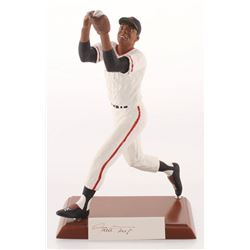 """Willie Mays Signed New York Giants """"The Catch"""" LE Porcelain Figurine (Salvino COA)"""