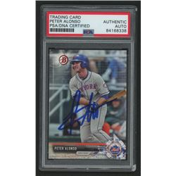 Pete Alonso Signed Trading Card (PSA Encapsulated)