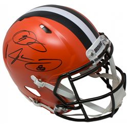 Odell Beckham Jr.  Jarvis Landry Signed Cleveland Browns Full-Size Authentic On-Field Speed Helmet (
