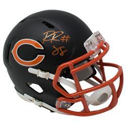 Riley Ridley Signed Chicago Bears Matte Black Speed Mini Helmet (JSA COA)
