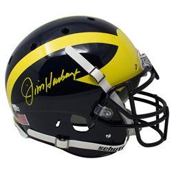 Jim Harbaugh Signed Michigan Wolverines Full-Size Authentic On-Field Helmet (Fanatics Hologram)