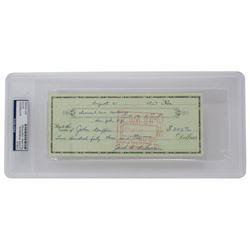 Jackie Robinson Signed 1957 Personal Bank Check (PSA Encapsulated)