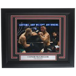 Conor McGregor Signed UFC 13x16 Custom Framed Photo Display (Fanatics Hologram)