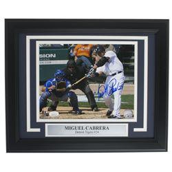 Miguel Cabrera Signed Detroit Tigers 11x14 Custom Framed Photo Display (JSA COA)