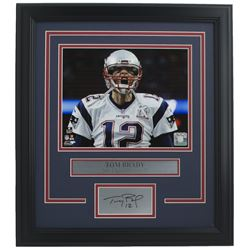 Tom Brady New England Patriots 11x14 Custom Framed Photo Display