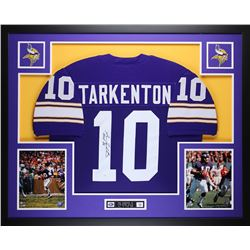 "Fran Tarkenton Signed 35"" x 43"" Custom Framed Jersey Inscribed ""HOF 86"" (JSA COA)"