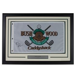 "Chevy Chase Signed ""Caddyshack"" Bushwood 20x28 Custom Framed Pin Flag Display (PSA COA)"