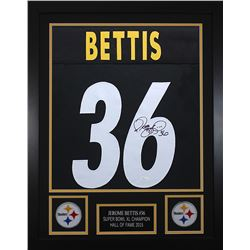 Jerome Bettis Signed 24x30 Custom Framed Jersey (JSA COA)
