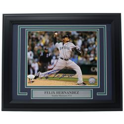 Felix Hernandez Signed Seattle Mariners 11x14 Custom Framed Photo Display (JSA COA)