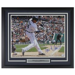 Miguel Cabrera Signed Detroit Tigers 22x27 Custom Framed Photo Display (JSA COA)