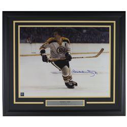 Bobby Orr Signed Boston Bruins 22x27 Custom Framed Photo Display (GNR COA)