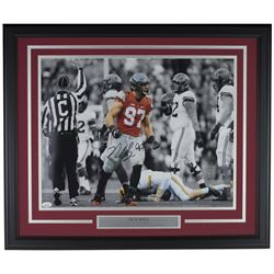 Nick Bosa Signed Ohio State Buckeyes 22x29 Custom Framed Photo Display (JSA COA)