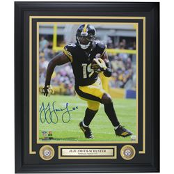 JuJu Smith-Schuster Signed Pittsburgh Steelers 22x29 Custom Framed Photo Display (JSA COA)