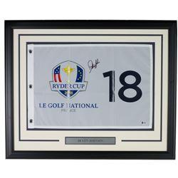 Dustin Johnson Signed 21x27 Custom Framed Pin Flag Display (Beckett COA)